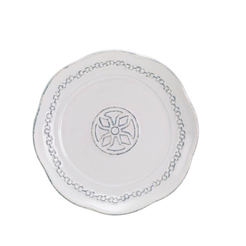 Villa Beleza Bread/Side/Candle Plate Vintage White