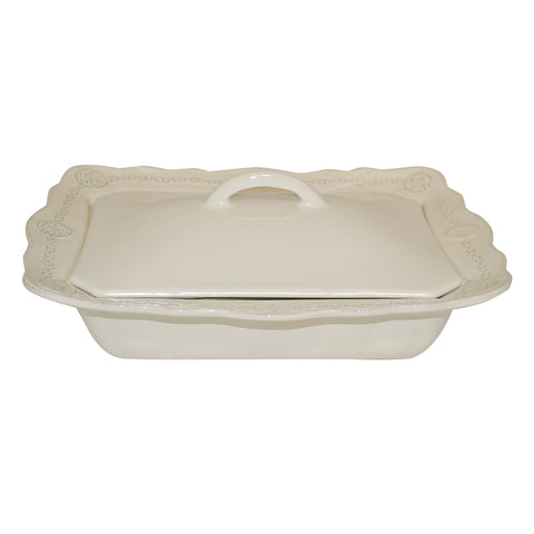 Villa Beleza Covered Casserole Alabaster