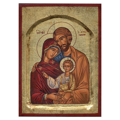Holy Family Handmade Recessed Icon, Available In 6 Sizes