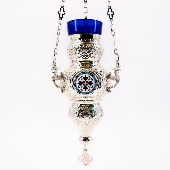 Hanging Vigil Sanctuary Lamp Silver Plated