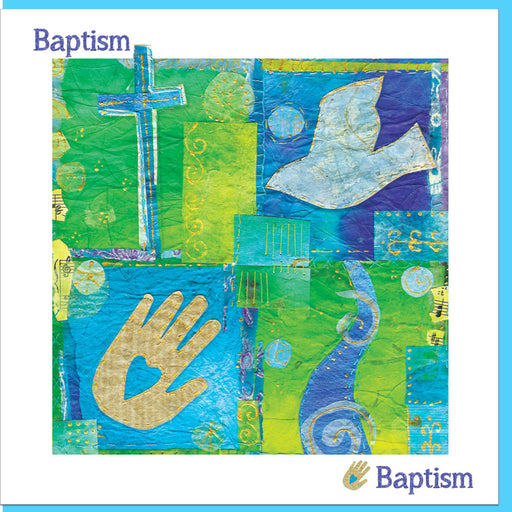 Christian Baptism Joy Greetings Card With Bible Verse