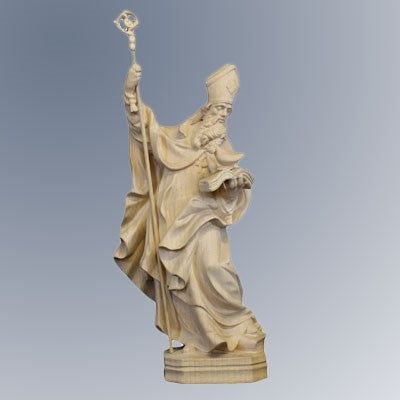 St Benedict Statue 12 Inches High Woodcarving