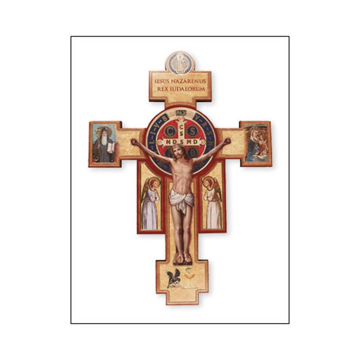 St Benedict Cross, Available In 2 sizes From 6 Inches High