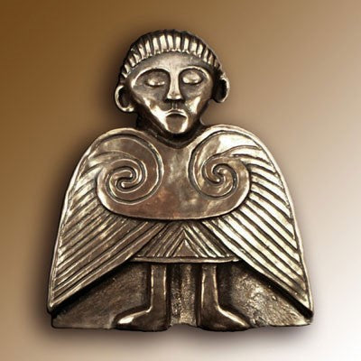 Christian Angels, Celtic Angel 10cm High, Hand Cast Bronze Resin Plaque From The Wild Goose Studio