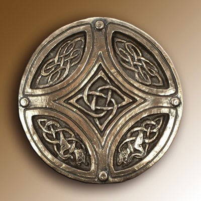 Christian Gifts, Celtic Circle Cross 15cm Diameter, Hand Cast Bronze Resin Plaque From The Wild Goose Studio