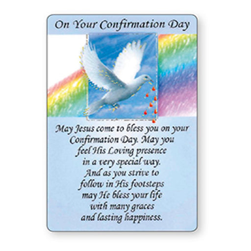 Confirmation Gifts, Confirmation Day Prayer Card