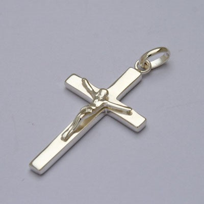 Sterling Silver Crucifix 42mm In Length
