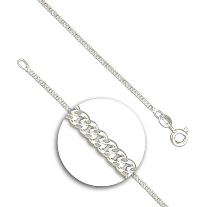 Fine Sterling Silver Curb Chain 16 to 24 Inches In Length