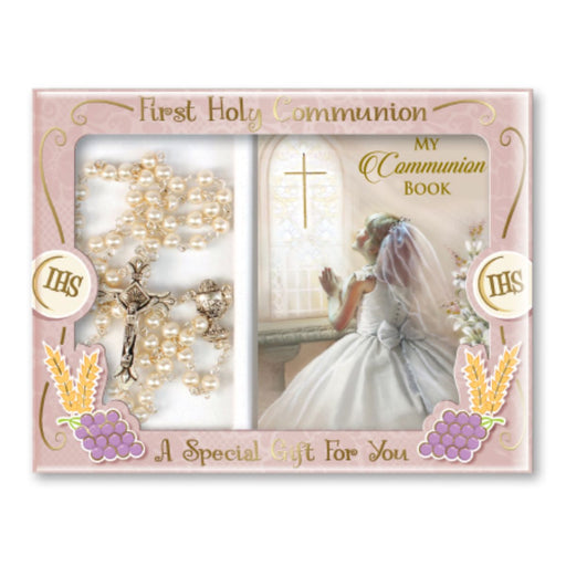 First Holy Communion Catholic Gifts, First Holy Communion Gift Set For a Girl, A Special Gift For You with Prayer Book & Rosary