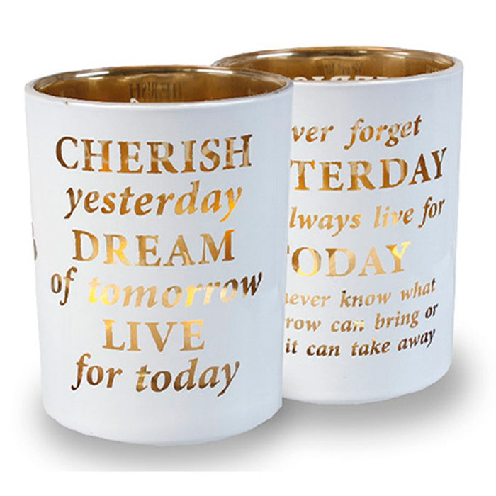 Prayer Candle Holder, Cherish, Dream and Live