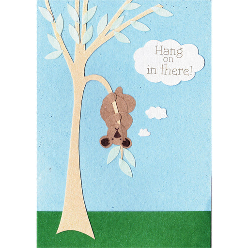 Christian Thinking Of You Greetings Card, Hang On In There, Fair Trade Greetings Card, Blank Inside