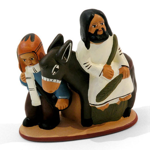 Jesus On The Donkey, Entry Into Jerusalem, Fairtrade Peruvian Ceramic Statue