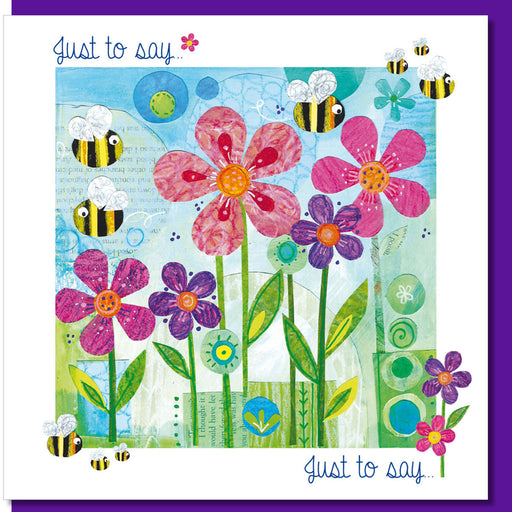 Christening Greetings Card, Just To Say Greetings Card, Bee Design With Bible Verse