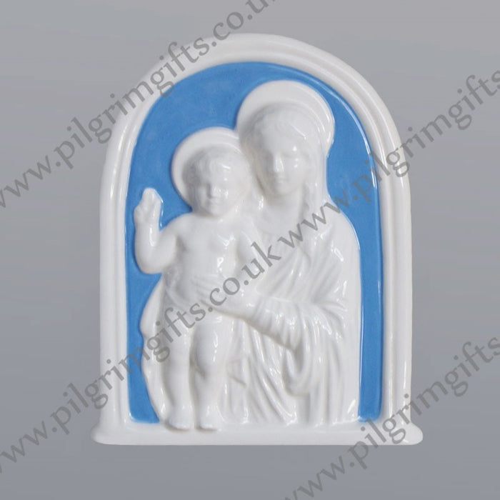 Madonna and Child Della Robbia 6 3/4'' x 5 1/2''