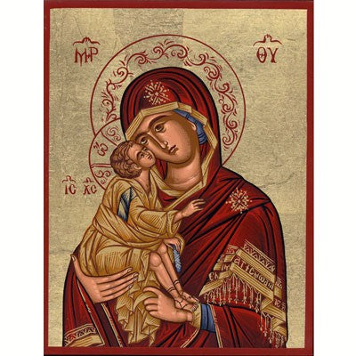 Mother and Child Handmade Icon Red, Available In 2 Sizes