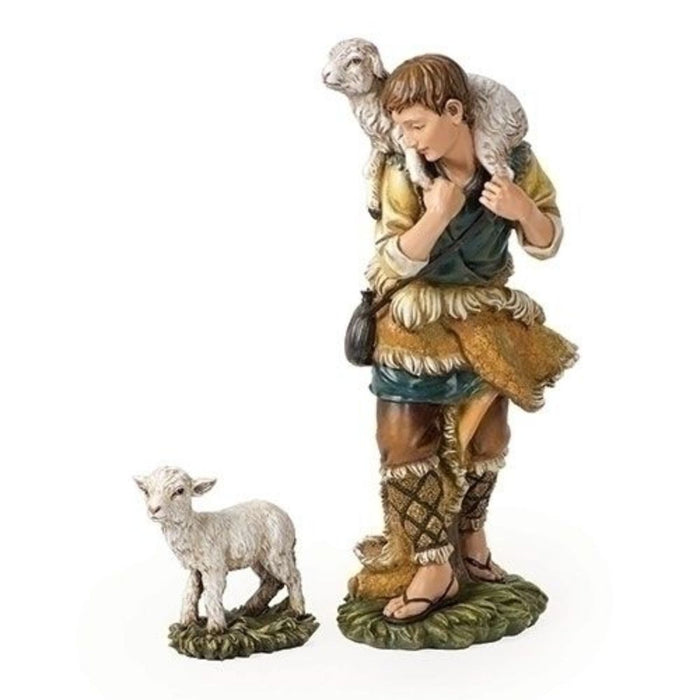 Nativity Shepherd and Lamb 23.75 Inches High