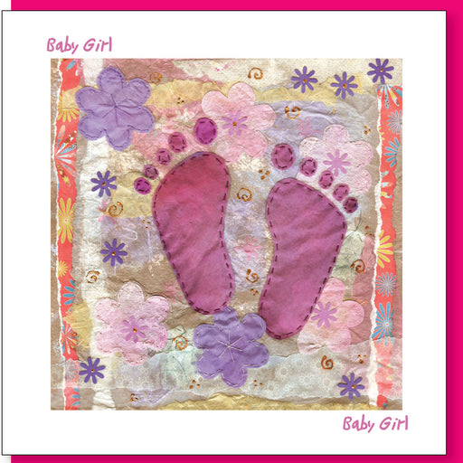 Christian Greetings Cards New Baby Girl Greetings Card With Bible Verse Inside