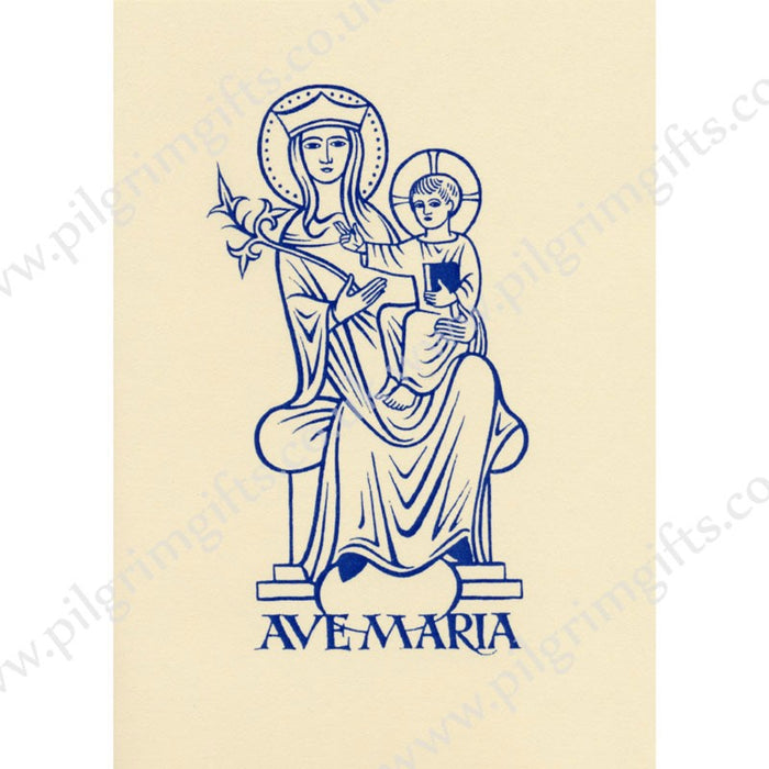 Our Lady Ave Maria Greetings Card