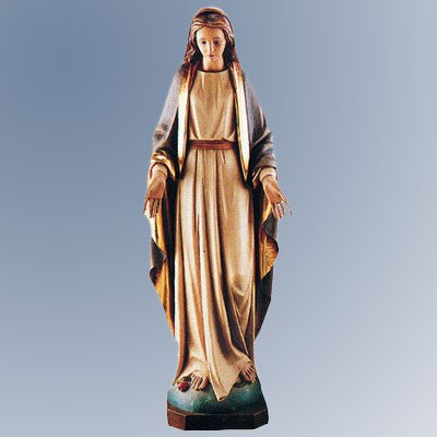 Our Lady of Grace Wooden Statue 11.5 Inches High