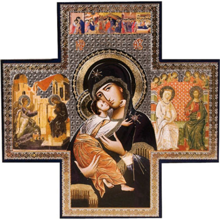 Our Lady of Perpetual Help - Cross Icon