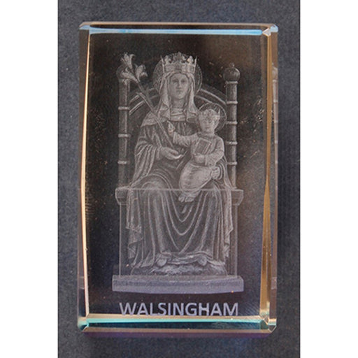 Our Lady of Walsingham Lazer Engraved Crystal Statue