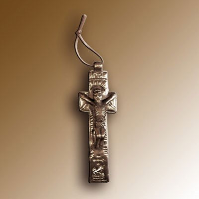 Christian Gifts, Penal Cross 16.5cm High, Hand Cast Bronze Resin From The Wild Goose Studio