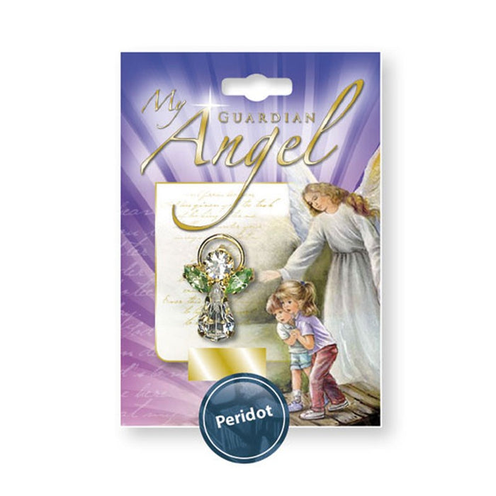 August Peridot Birthstone My Special Angel Pin