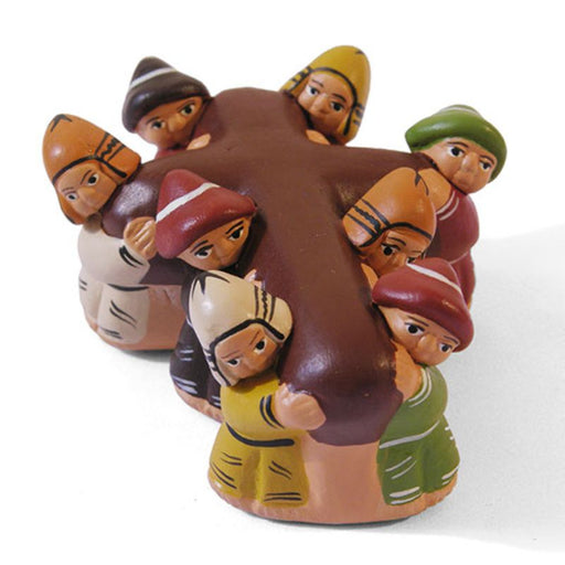 Carrying the Cross, Fairtrade Peruvian Ceramic Figurine