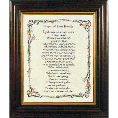 Prayer of St. Francis Framed Print