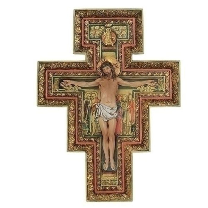 San Damiano Crucifix, Cross of St Francis 18 Inches High