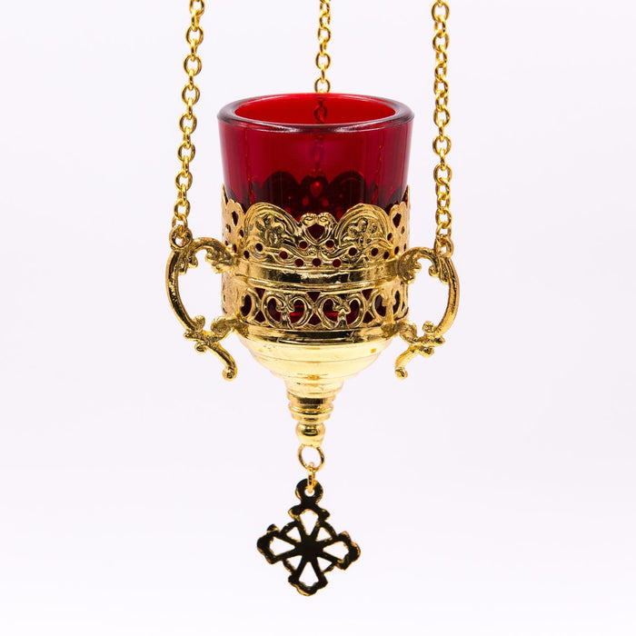 Hanging Vigil Sanctuary Lamp Gold Plated