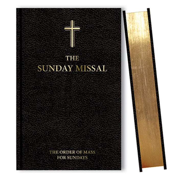 Sunday Missal Black Cover With Gold Page Edging