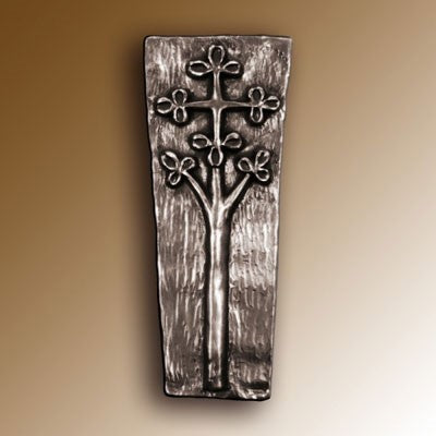 Christian Gifts, Celtic Tree Cross, 19cm High, Hand Cast Bronze Resin Plaque From The Wild Goose Studio
