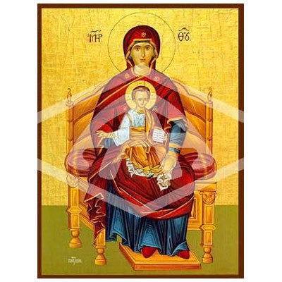 Virgin and Child Enthroned Icon