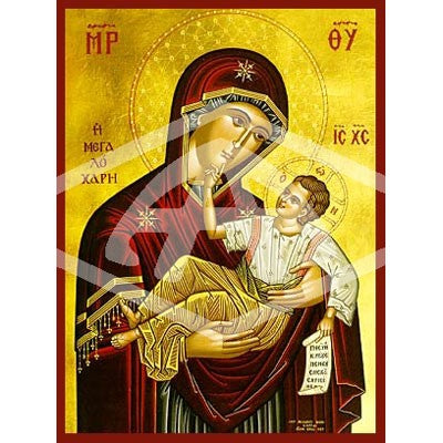 Virgin And Child Great Grace Icon