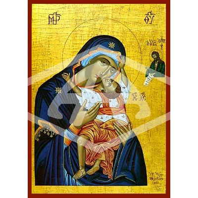 Virgin and Child Sweet Kissing Icon