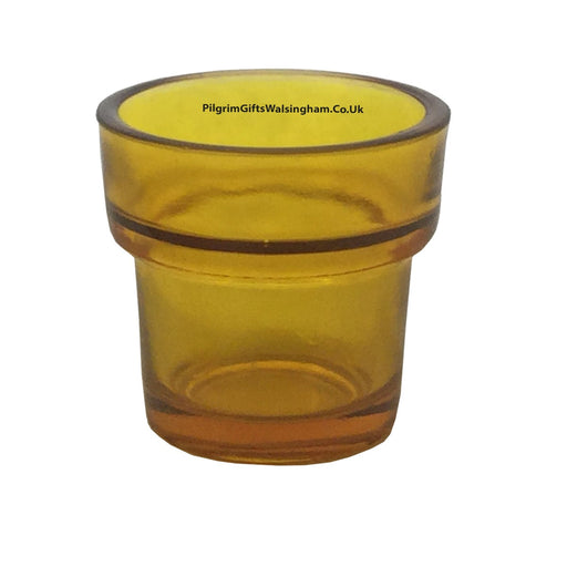 Votive Sanctuary Glass Amber Coloured