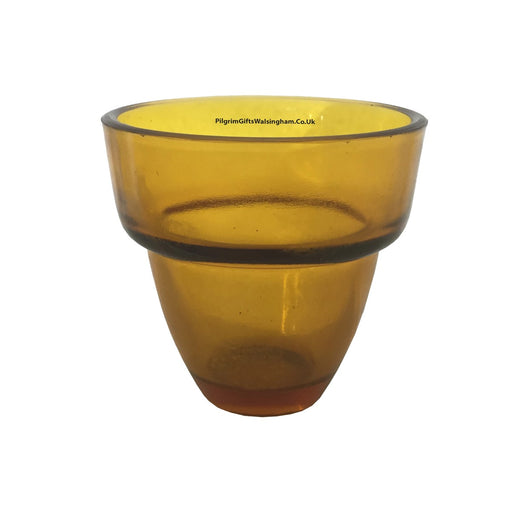 Church Sanctuary and Votum Glasses Amber Votive Glass