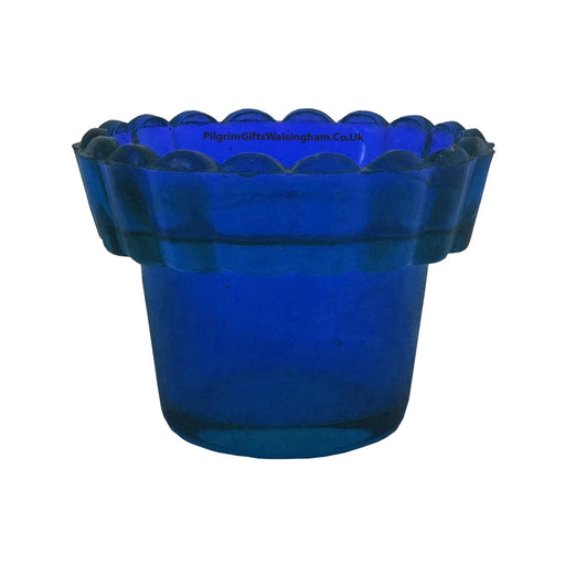 Votive Sanctuary Glass Blue Coloured