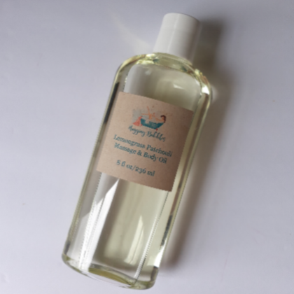 Lemongrass Patchouli Massage and Body Oil