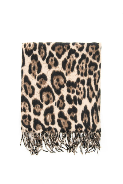 Sciarpa animalier leopardata - colore marrone