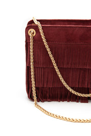 GRETA GARBO - Borsa con frange - colore bordeaux
