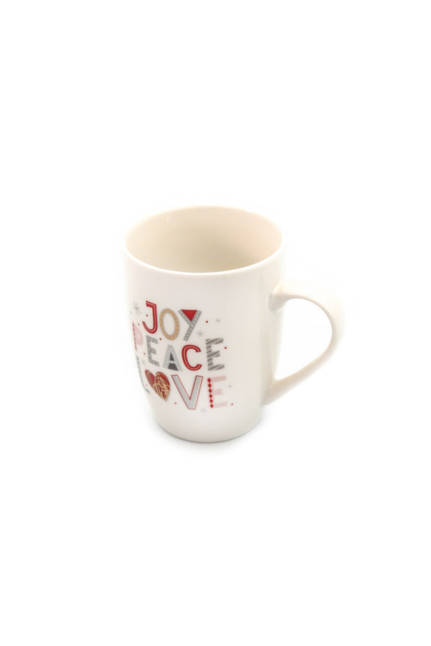 Tazza mug scritte natalizie - joy peace love