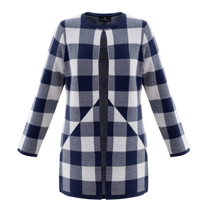 Marble Check Cardigan