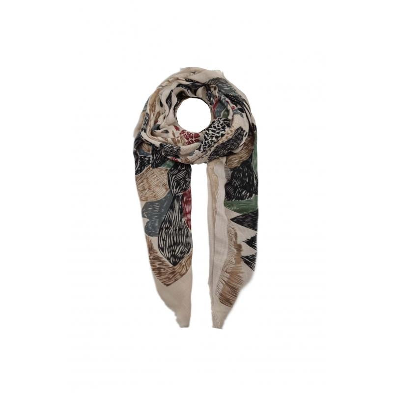 High quality scarf with floral print pink