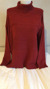 Foil tunic jumper in rust . Super soft