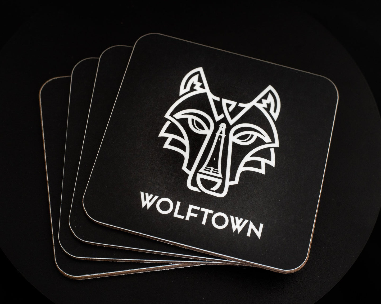 Wolftown Drinks Coasters Pack of 4 - Wolftown Distillery