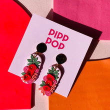 Load image into Gallery viewer, Pip's Poppies Dangles-Pipp Pop