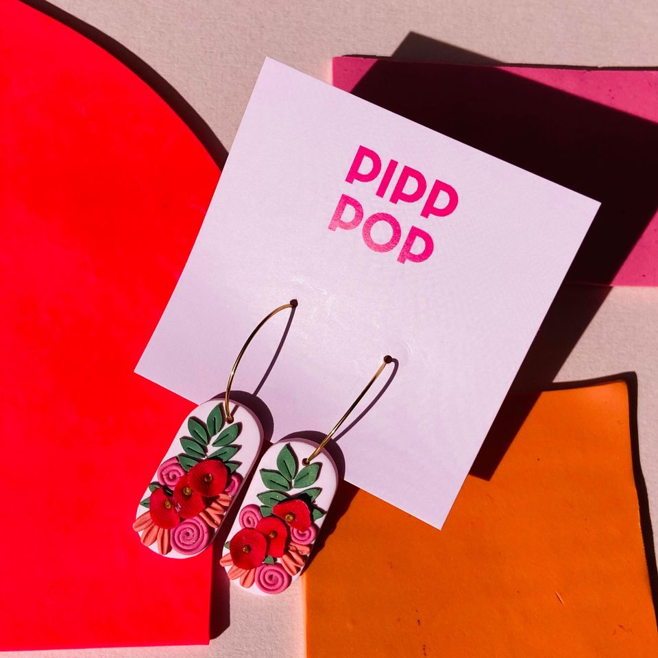 Pip's Poppies Hoops-Pipp Pop