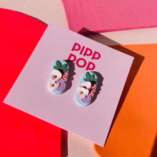 Load image into Gallery viewer, Pip's Poppies Studs-Pipp Pop